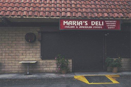 Deli, Groceries, Food, Store, Sidewalk, Entrance