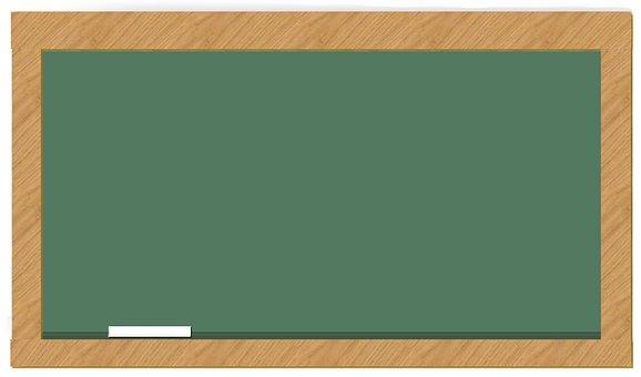 Chalkboard, Slate, Green, Blackboard, Education, Wood