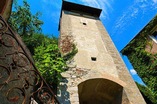 Tower, Meran, Italy, South Tyrol, Holiday, Summer, Tree