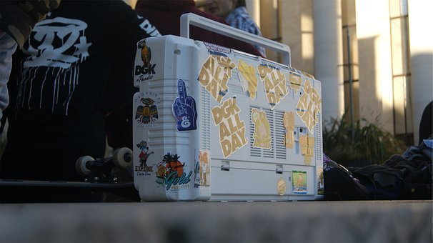 White, Boombox, Stickers, Decals, Skateboard, Skaters