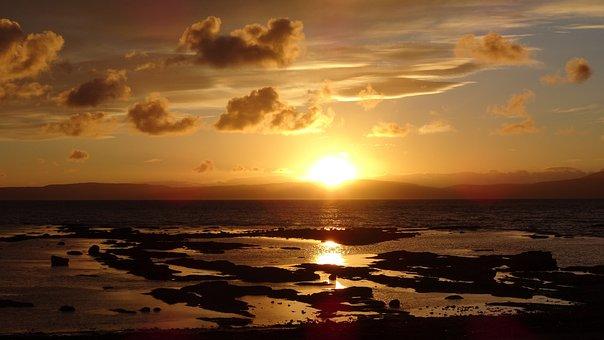 West Coast Scotland, Ardrossan, Scotland, Sunset