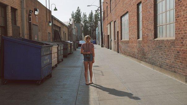 Girl, Woman, Camera, Sunglasses, Sandles, Jean Shorts