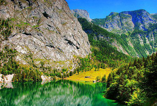 Upper Lake, Bavaria, Mood, View, Berchtesgaden
