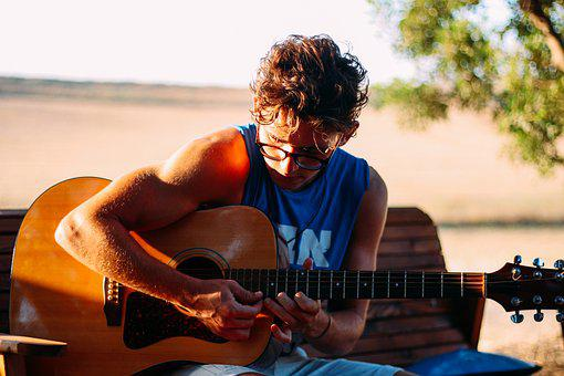 Guitar, Learn, Lessons, Swag, Boy, Playing, Music