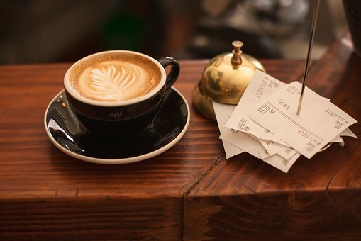 Coffee, Cafe Latte, Cappuccino, Cup, Shop, Receipts