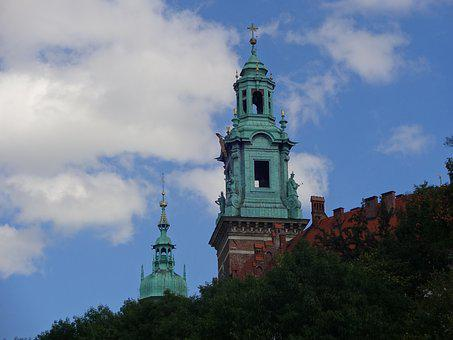 Cathedral, Krakow, Cloud, Sky, Clouds, Blue, White