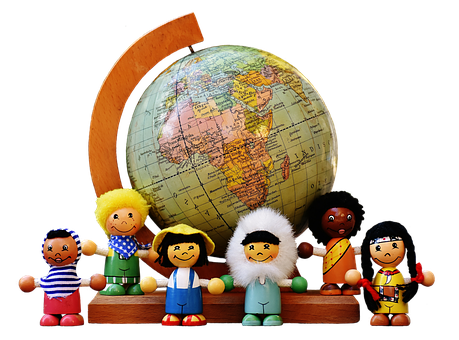 Different Nationalities, Children, Human, Globe