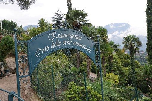 Garden, Meran, Italy, Sissi, South, Elisabeth, Tyrol