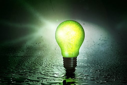Light Bulb, Fruit, Pear, Water, Drip, Energy, Glass