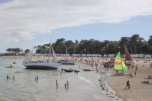 Noirmoutier, Boat, Failed Boat, Ladies Beach, Tide