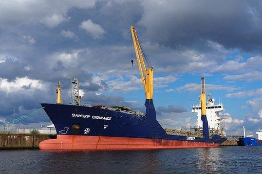 Freighter, Hamburg, Port, Ship, Shipping, Elbe