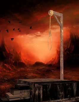 Gallows, Knitting, Hang, Background Image, Penalty