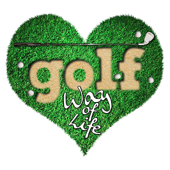 Golf, Game, Golf Course, Heart