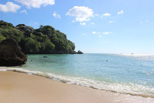 Beach, Sunny, Sky, Bali, Padang Padang Beach
