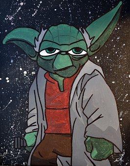 Star Wars, Yoda, Painting, Drawing, Jedi, She Makes