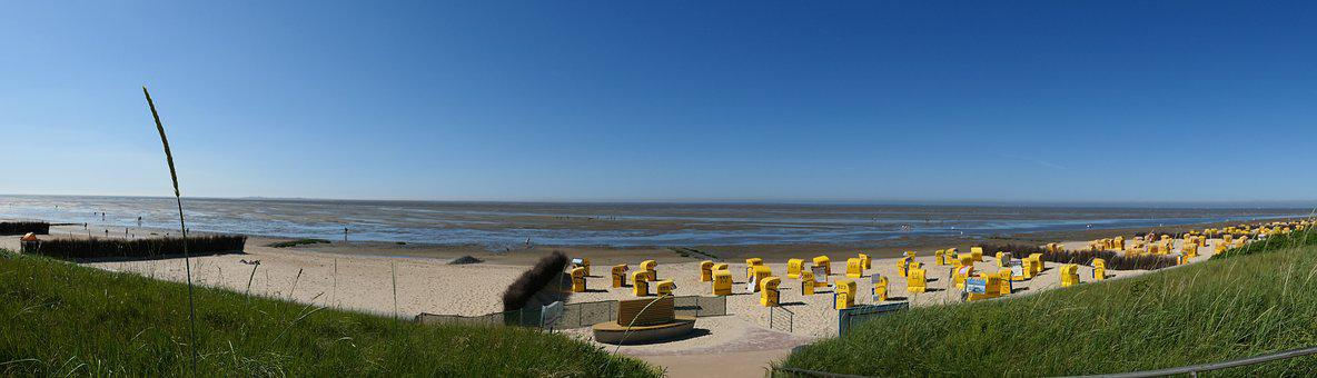Vacations, Beach, North Sea, Sand, Sea