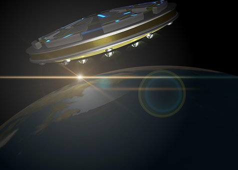 Ufo, Space, Earth, Science Fiction, Spaceship, Forward