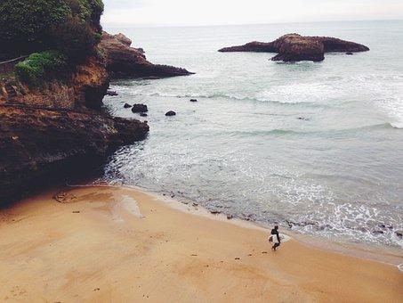 Beach, Sand, Surfer, Surboard, Surfing, Shore, Coast