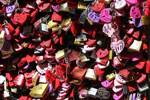 Hearts, Padlock, Love, The Relationship Of The
