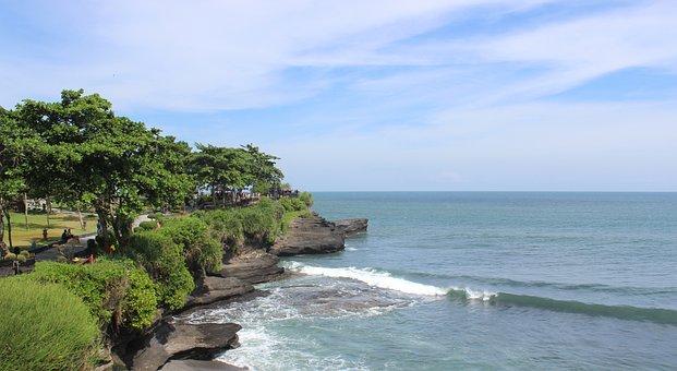 Bali, Tanah Lot, Temple, Ocean, Waves
