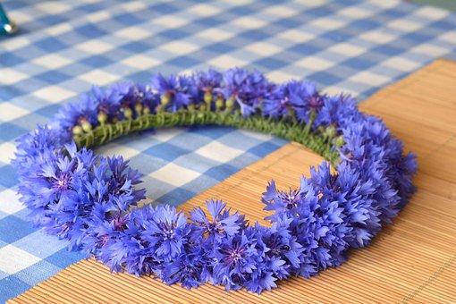 Wreath, Cornflower, Cornflowers, Bluebottle, Fabricated