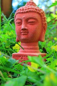 Red, Buddhist, Buddha Statue, Green, Heinikko, Yellow