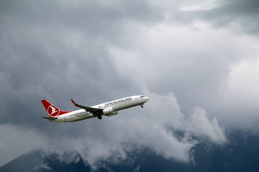 Aircraft, Turkish Airlines, Boeing, 737, Aviation