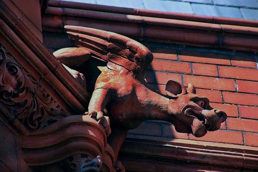 Gargoyle, Statue, Gothic, Sculpture, Architecture