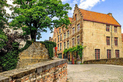 Building, Bridge, Brick, Architecture, Bruges, Brugge