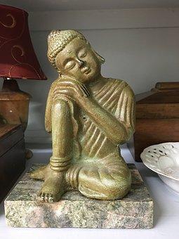 Sleeping, Seated, Buddha Statue