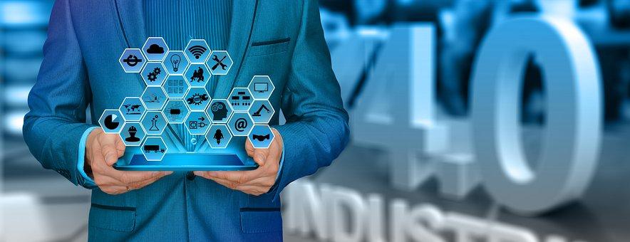 Industry, Businessman, Man, Suit, Industry 4, Network