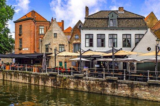 Building, Brick, City, Architecture, Canal, Terrace
