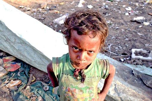 Child, Poor, Slums, India, Young, Poor Children