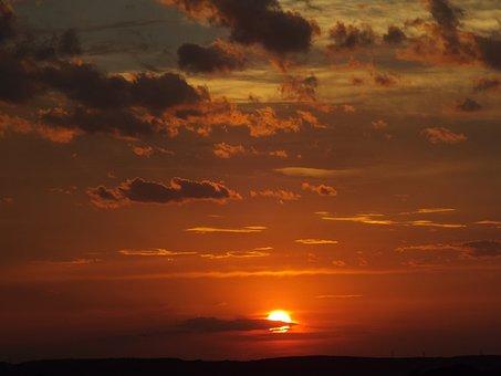 Sunset, Oberschönenfeld, Evening Sky