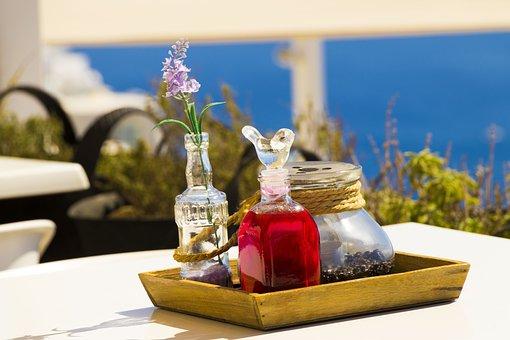 Santorini, Greece, Landscape, Heat, Nature, Restaurant