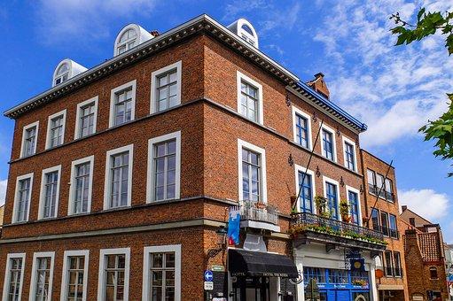 Building, House, Facade, Brick, Architecture, Bruges