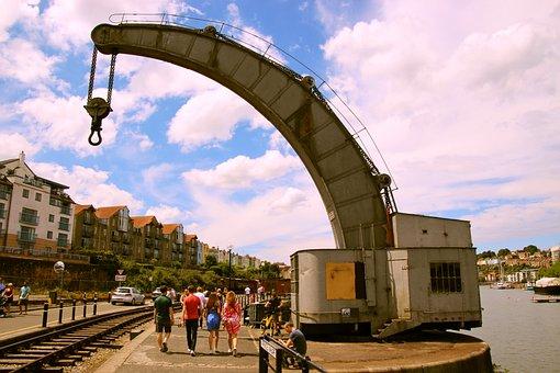 Crane, Vintage, Equipment, Industry, Industrial, Metal