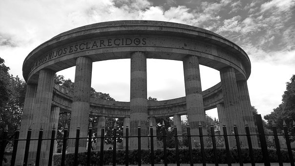 Guadalajara, Jalisco, Mexico, Monument, Black And White