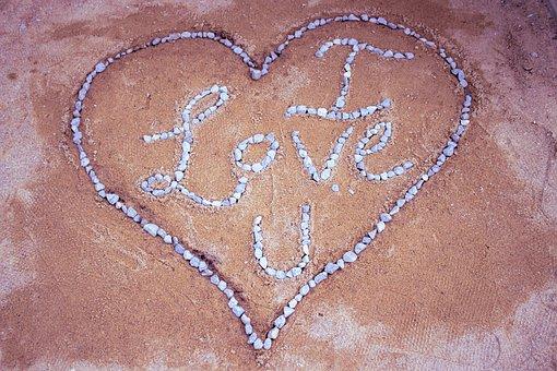 Heart, Heart Shape, Sand, Love, Love Background