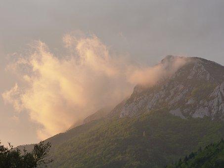 Mountain, Sky, Cloud, Landscape, Nature, Cloudy Sky