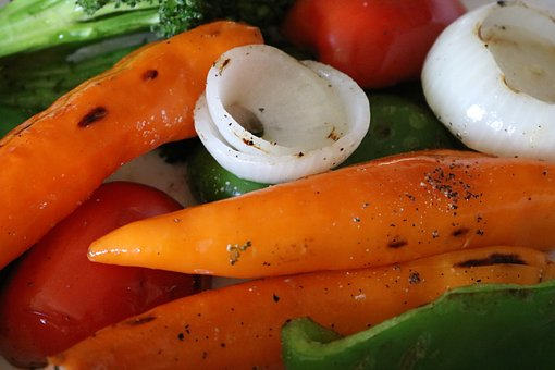 Veggies, Vegetables, Peppers, Tomatoes, Onions