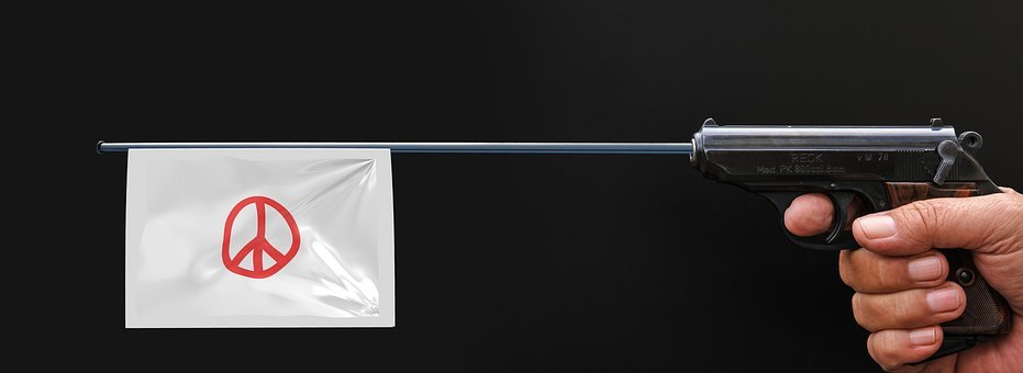 Pistol, Weapon, Flag, Harmony, Symbols, Characters