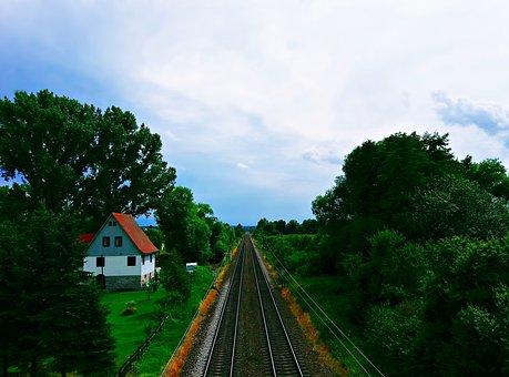 Tracks, Rails, Landscape, Green, Railroad Tracks