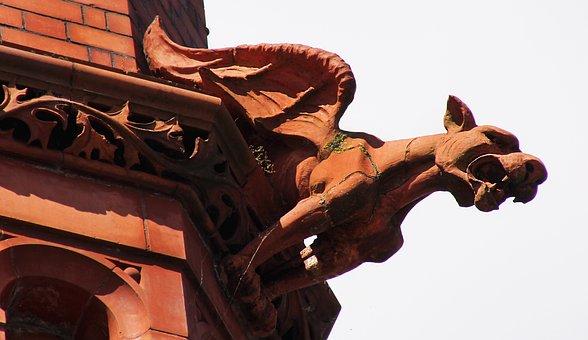 Grotesque, Gargoyle, Sculpture, Gothic, Demon, Statue