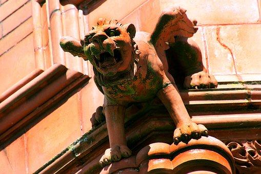Gargoyle, Grotesque, Sculpture, Gothic, Demon, Statue