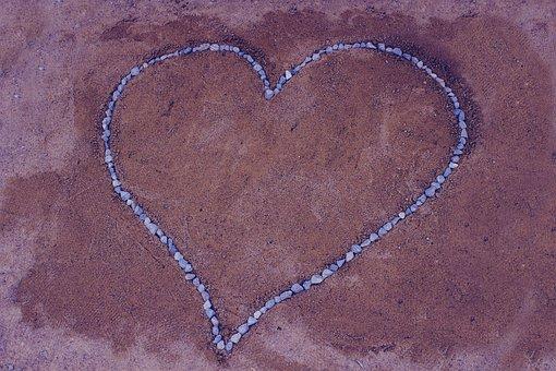 Love, Love Background, Stone Heart Shape, Heart