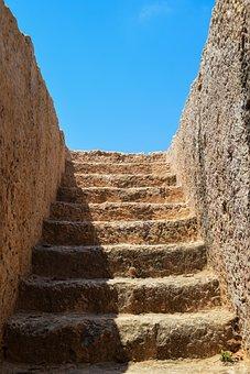 Cyprus, Ayia Napa, Makronissos, Stairs, Staircase, Tomb