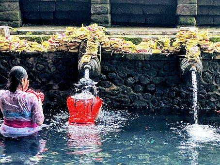Pura Tirta Empul Temple, Hindu, Balinese, Water Temple