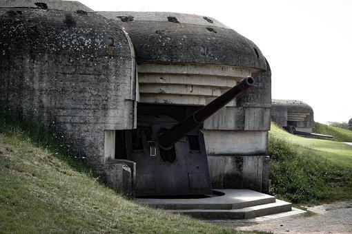 Normandy, Gun, War, Atlantic Wall, Wwii, World War Ii