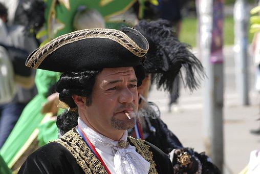 Carneval, Smoker, Mask, Costume, Design, Actor, Classic